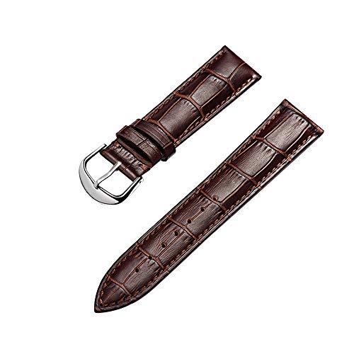 Cinturino Orologi Cuoio Genuino Di Vitello Cinturini Di Ricambio Adatta Per Orologi Tradizionali Sportivi Smart Watch 22mm Marrone