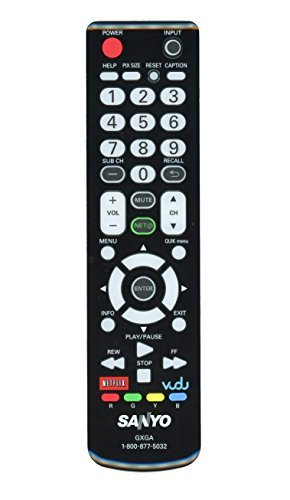 Sanyo Internet-Ready LCD TV Remote Control Supplied with Models DP46861