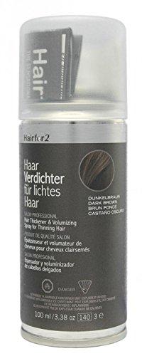 Hairfor2 Haarverdichter Spray, dunkelbraun, 1er Pack, (1x 100 ml)