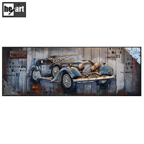 Stampa su tela Wall Art for Livingroom Crazy Street Art Stile Graffiti 3d Metal Paintings...