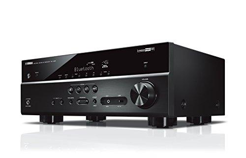 Yamaha AV-Receiver RX-V485 MC schwarz – Netzwerk-Receiver mit 5.1 Music Cast Surround-Sound - für die perfekte Heimkino-Unterhaltung – Kompatibel mit Alexa Sprachsteuerung