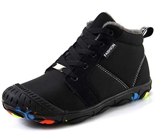 Niños Y Niñas Fur Calentar Botas Invierno Botines Impermeable Botas De Nieve Al Aire Libre Boots Anti-Deslizante Zapatos Zapatos De Senderismo Y Trekking