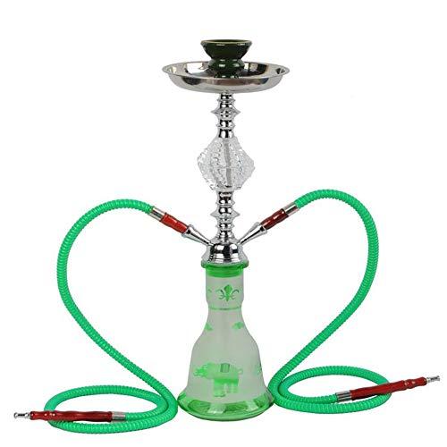 Juego De Cachimba Mediana Nuevo Portátil Hookah High-Grade Smoker KTV Bar Shisha Set (50cm*17cm),Verde