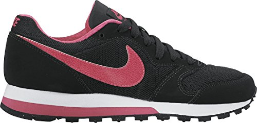 Nike MD Runner 2 (GS), Zapatillas para Niñas, Negro (Black/Vivid Pink White), 38 EU