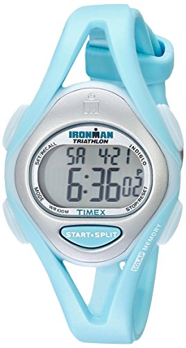Timex Women's T5K701 Ironman Sleek 50 Mid-Size Mint Resin Strap Watch
