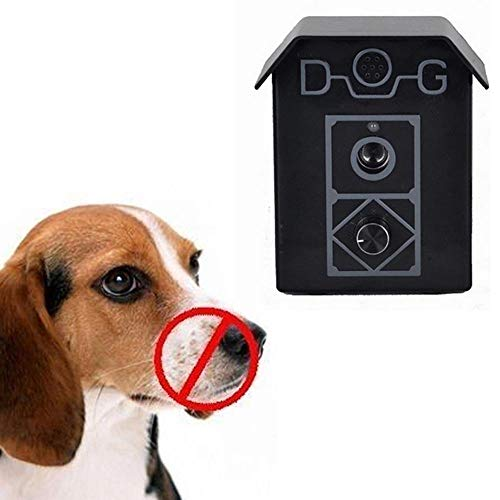 MOGOI Anti Barking Device, Outdoor/Indoor Dog Repellent Device with Adjustable Ultrasonic Level Control Safe for Dogs, Sonic Bark Deterrents, Bark Control Device, Up to 50 Feet Range