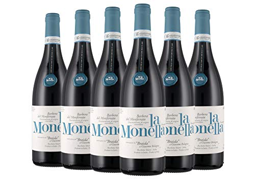 Barbera del Monferrato Frizzante DOC La Monella box da 6 bottiglie Braida 2018 0,75 L