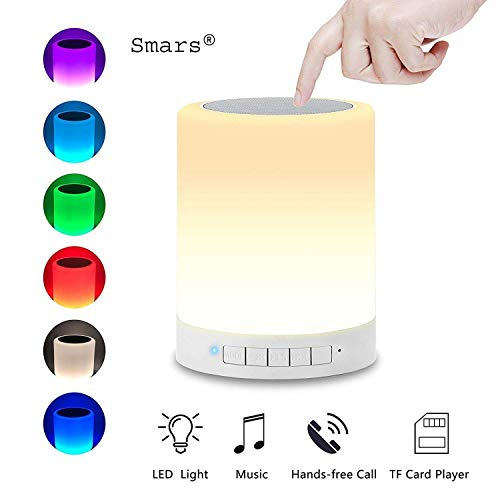 Smars CL-671 LED Touch Lamp Portable Bluetooth Speaker with TF Card/Aux/Speaker Phone