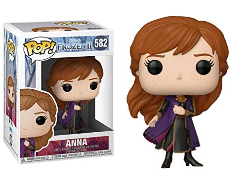 Funko- Pop Disney: Frozen 2-Anna Figura Coleccionable, Multicolor (40886)