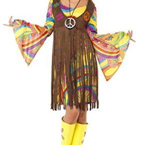 Smiffy's Smiffys-35531M Chica estupenda de los 60, con Vestido, Chaleco Estampado y Banda para el Pelo, Color marrón, M-EU Tamaño 40-42 35531M