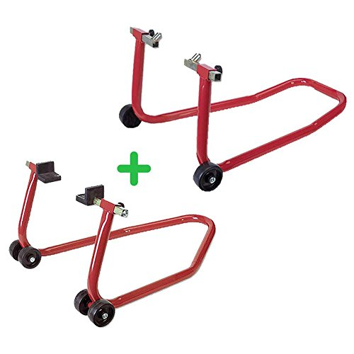 Caballete moto PACK soporte/elevador / caballete DELANTERO + TRASERO