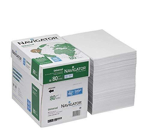 NAVIGATOR Kopierpapier Universal A4 80 g/qm in der 2.500 Blatt Box