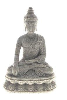 Estatua de Buda meditando, Tailandesa, bendición de paz, armonía, ideal para uso en interiores y al aire libre, decoración de casa, 16cm de alto