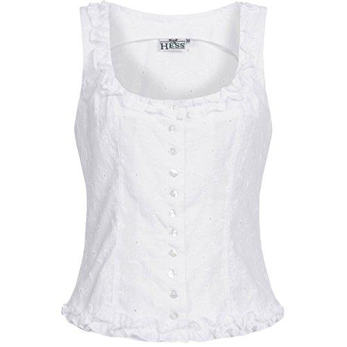 Hess TrachtenMieder Moni in Weiß, Größe:32, Farbe:Weiß