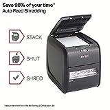 Rexel Auto+ 60X 2103060 - Destructora de papel con autoalimentación y corte en confeti para oficinas pequeñas (hasta 10 usuarios), papelera 15 l, negro