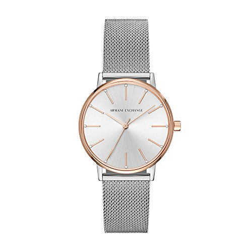 Armani Exchange Damen-Uhren Analog Quarz One Size Edelstahl 87315932