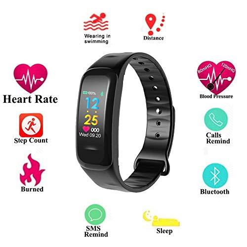 AOLVO Fitness Tracker Orologio Android iOS, Schermo a Colori Cardiofrequenzimetro Contapassi da...
