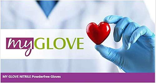 My Glove, guanti in nitrile blu, guanti da visita, guanti monouso senza polvere, senza lattice, non...