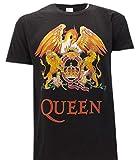 Queen T-Shirt du The avec Classic Logo Rock Musique Freddie Mercury - Officielle (X-Large)