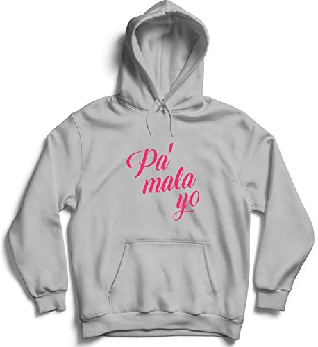 Pa Mala Yo_000680 Cute Funny Hoody Sweater Sweatshirt Pullover Present - XL Grey Hoodie