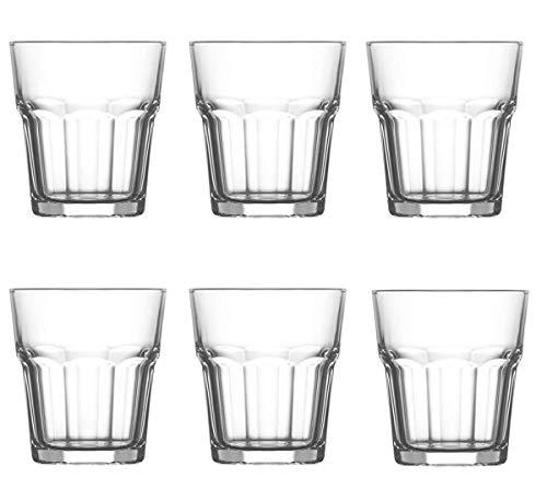 Set 6 Bicchieri Aras Liquore/Caffè In Vetro, Bicchierini Per Uso Quotidiano, Bicchierini Da Shot/Ciupiti, Adatto Per Casa/Bar/Feste/Regalo