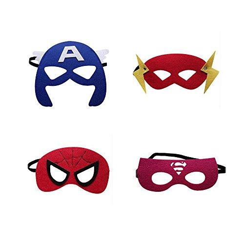 0a391ba5781a67 LMYTech 12 Pcs Masques Super Héros Masques pour Enfant Felt Masks ...