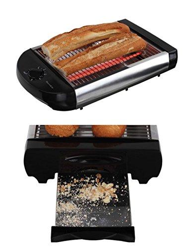 Tostapane tostapane tavolo roester piatta in acciaio inox Tostapane vassoio raccoglibriciole panini...
