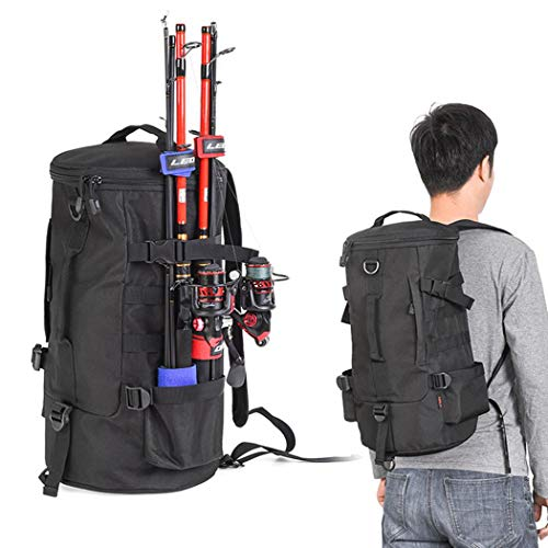 Fansport Fishing Tackle Bag Fashion Portable Lightweight Fishing Tackle Backpack Fishing Rod Bag