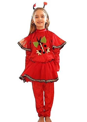 Inception Pro Infinite Traje - Carnaval - Halloween - Chenille Ladybug L - Niño 6 - 7 años