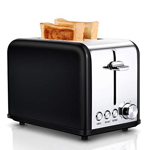 Tostapane 2 Fette, Tostapane per Toast 6 Livelli di Tostatura morpilot Tostapane Funcioni di...