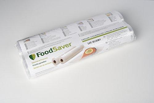 FoodSaver Rotolo Termosigillabile per Sigillatrice per Sottovuoto, 28 cm x 5.5 m, senza BPA, 2 Pezzi