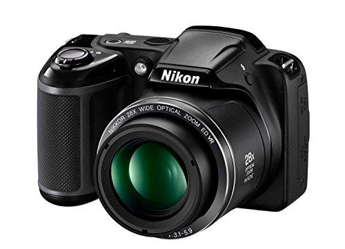 "Nikon L340 - Cámara compacta de 20.2 Mp (pantalla de 3"", zoom óptico 28x, estabilizador), negro"