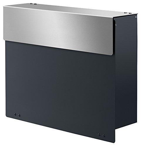 Frabox ARLON Design Briefkasten Anthrazitgrau / Edelstahl