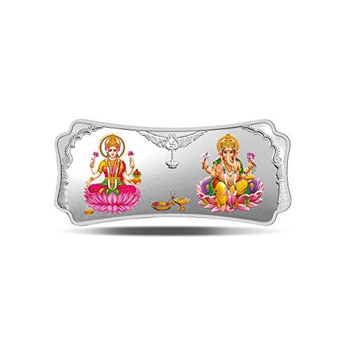 MMTC-PAMP India Pvt. Ltd. Stylized Lakshmi Ganesha 999.9 purity 50 gm Silver Bar