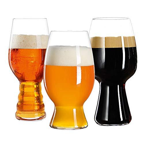 Spiegelau 4991693 Set da degustazione per birra artigianale, set da 3 bicchieri, trasparenti,...