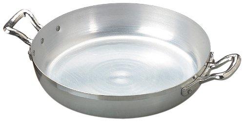 Agnelli Tegame Alluminio Family Due Manici cm36 Pentole e Preparazione Cucina, Argento, 36 cm