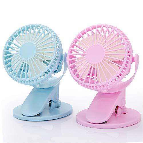 Nuoyi 2 ventilatori a Clip girevoli USB Alimentatore Ricaricabile Vento Forte inclinazione...