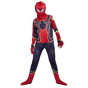 URAQT Disfraz de Spiderman, Halloween Mono de Superheroe de Cosplay, Disfraces de superhéroe para niños Spiderman, para Disfraces de Halloween-M
