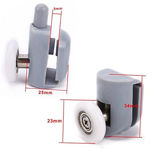 8x galet ajustables dual rouleau roulette roue porte. Black Bedroom Furniture Sets. Home Design Ideas