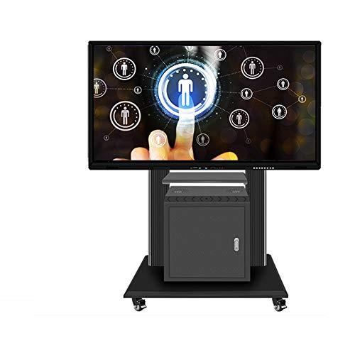 XUE Rolling TV Stand Mobile TV Cart, Altezza Regolabile con ripiano per schermi Piatti LCD LED TV...