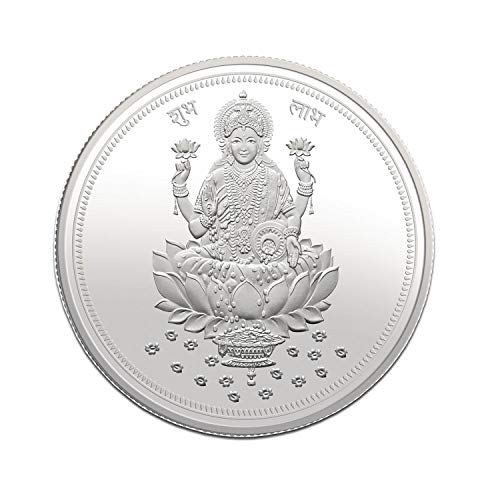 Modison Hallmarked 999 Silver Laxmi Ji Coin for Dhanteras Diwali & for Any Auspicious Occasion- 10 Gms