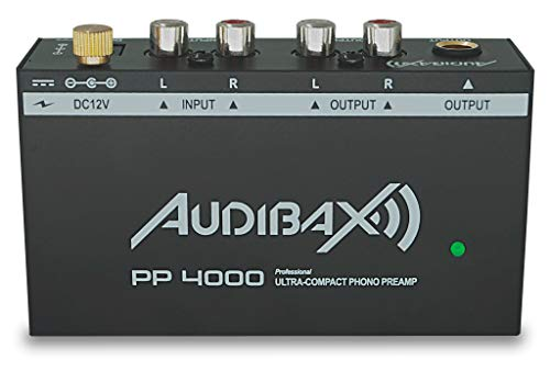 Audibax PP4000& Preamplificatore phono / equalizzatore RIAA per giradischi. Interruttore on / off...