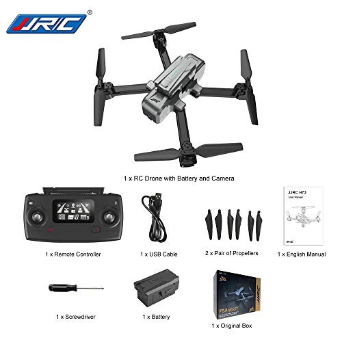 DishyKooker J-JRC H73 1080 P 5G WiFi RC Drone RTF con Point of Interest Folgemodus Telecomando...