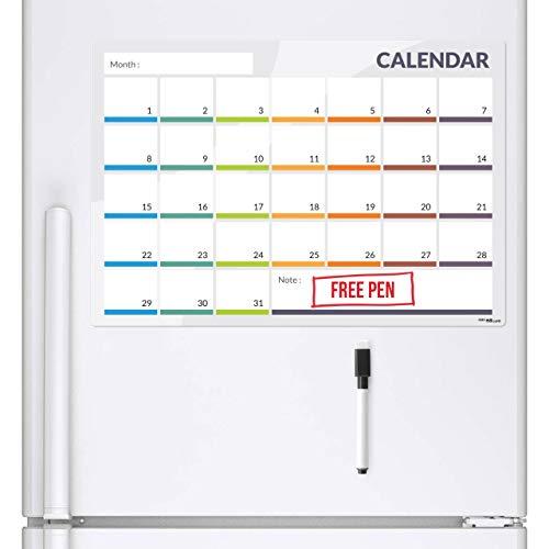 CKB Ltd 31 Day-Calendario Magnetico Per Frigorifero / Lavagna Magnetica Bianca Con Marcatore...