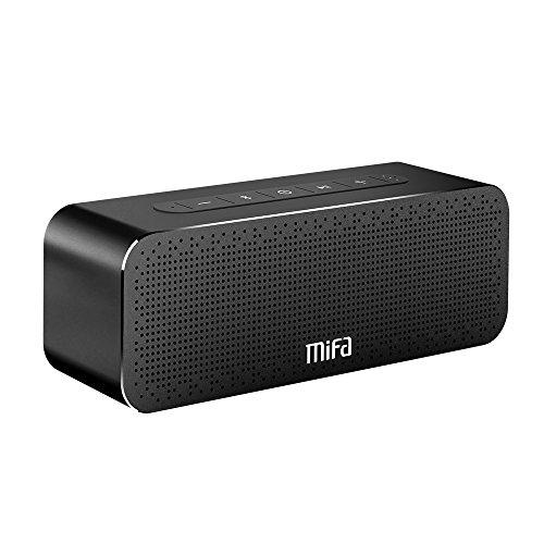 MIFA Soundbox Altoparlante Portatile 30W Bluetooth 4.2, Tutto in alluminio, Tecnologia TWS e DSP Suono Stereo & Bass, Litio Ricaricabile da 4.000 mAh, Microfono Integrato, Slot per Scheda TF, AUX-IN per iPhone, iPad, Samsung, Huawei, MP3, Echo Dot, Nexus, Laptop e Altri, Nero