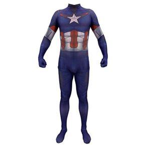 TOYSSKYR Disfraz de Cosplay para adultos Capitán América Avengers Halloween Prom Festival Festival Regalo (color : Azul…