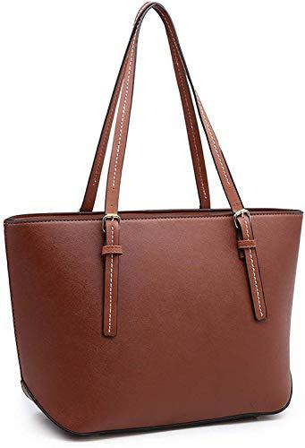 Womens PU Tot Bags, oteawe Women Purses and Handbags Casual Crossbody Shoulder (tan)