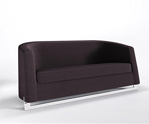 Marbet Style Ruhesofa 3 Posti Noble a Clubsofa Divano Lounge Bürocouch Step Webstruktur Luna - L29 - Viola Scuro