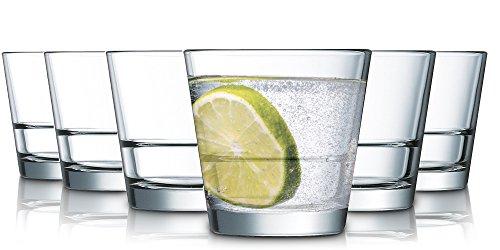 Tivoli Thames Bicchieri per Acqua - 330 ml - Set da 6 - Bicchieri di Alta qualità - Lavabili in Lavastoviglie - Bicchieri in Cristallo
