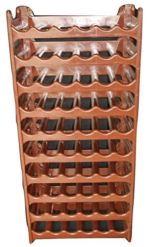 ARTECSIS Cantinetta Portabottiglie in Plastica Modulare 60 Bottiglie Marrone